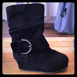 Other - Girls black wedge boots size12